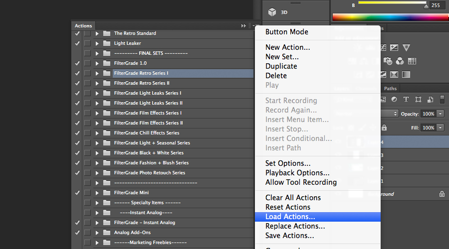How to Install Photoshop Actions.