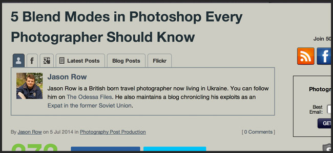 Blend Modes for Photographers in Photoshop