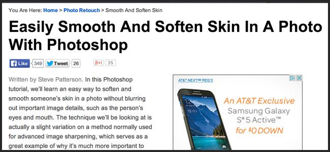 Skin Retouching Photoshop Tutorial