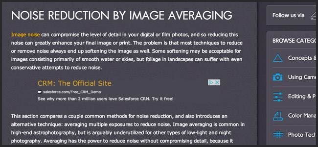 Noise Reduction in Photoshop