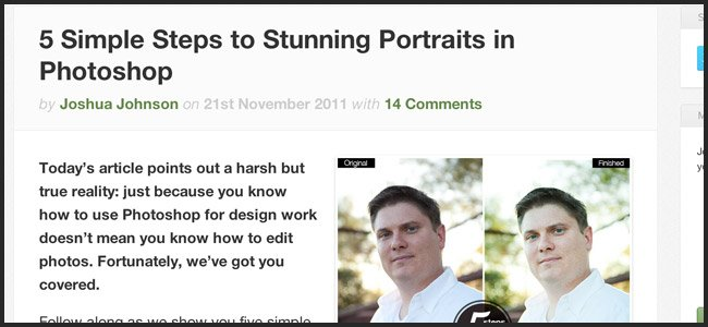 Editing Portraits with Photoshop.