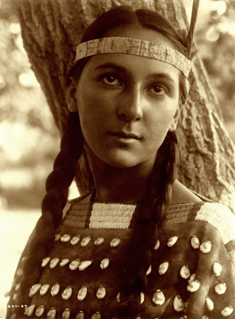 Lucille Dakota Sioux Portrait by Edward S. Curtis
