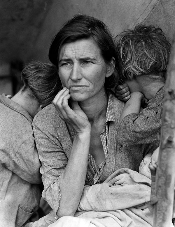 Great Depression Portrait Photography, Dorothea Lange