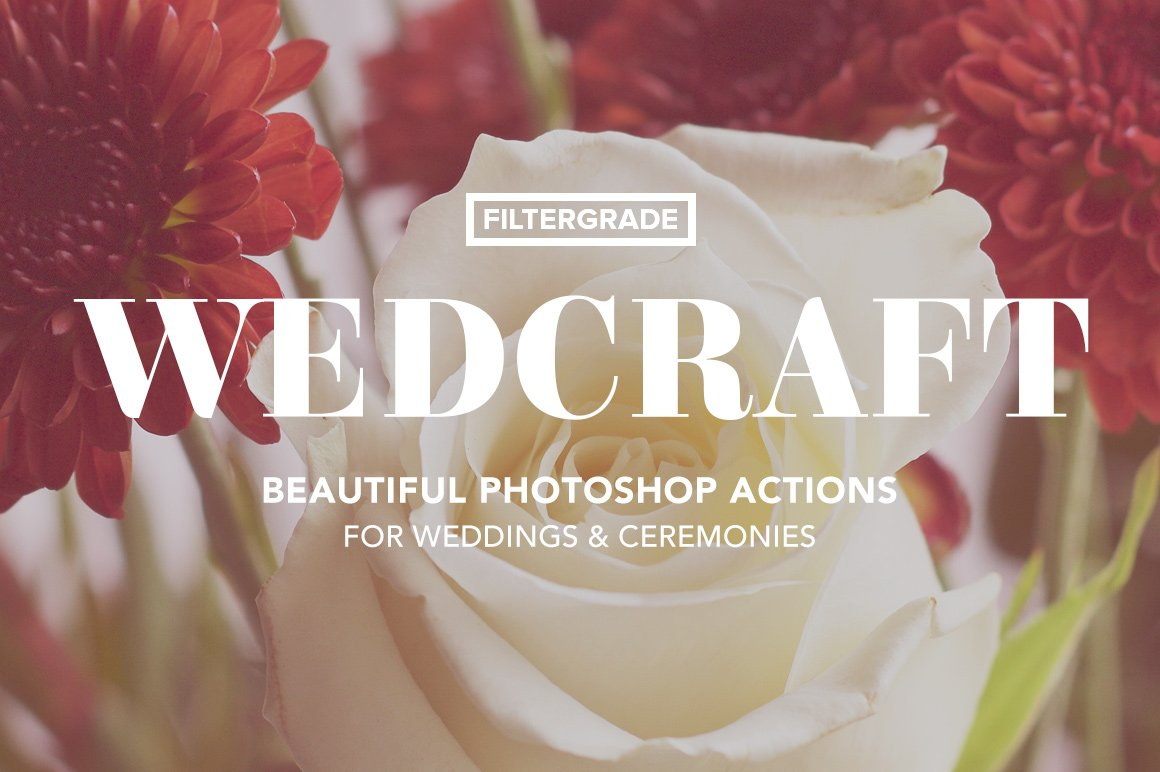 wedcraft beautiful photoshop actions for weddings