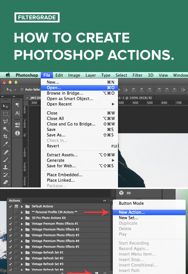 How to Create Photoshop Actions.