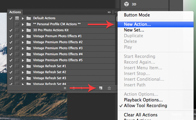 creating your first Photoshop action