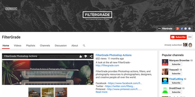 FilterGrade-Youtube-Channel