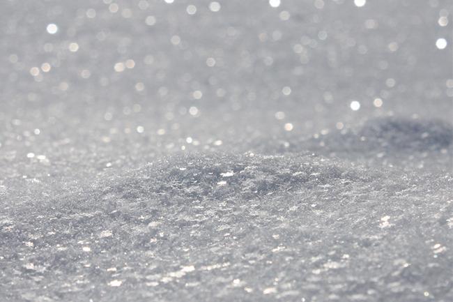 glittery snow