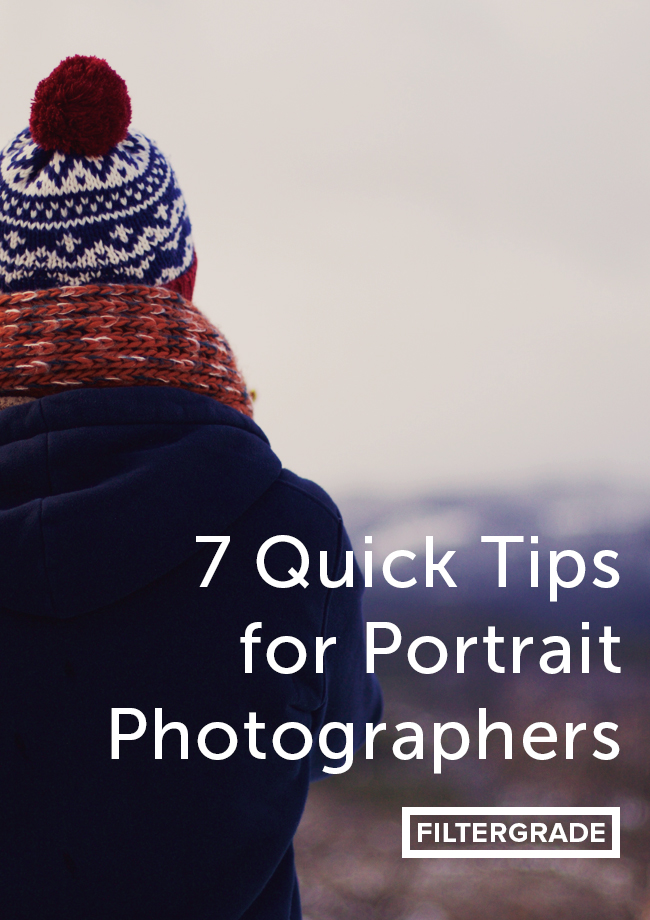 Some great quick tips for portrait photographers looking to improve their craft.