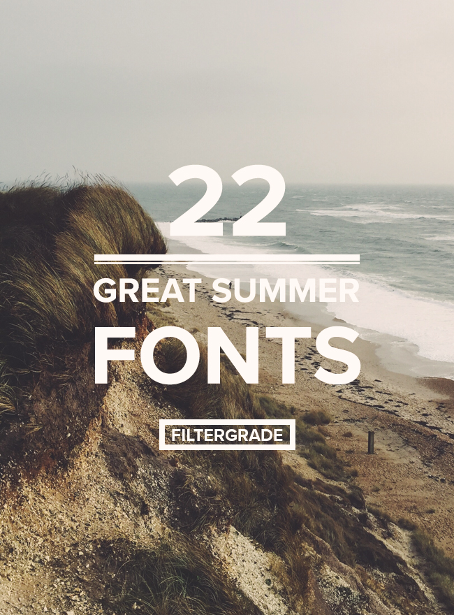 A collection of great Summer fonts and graphic elements for photographers, designers, and bloggers.