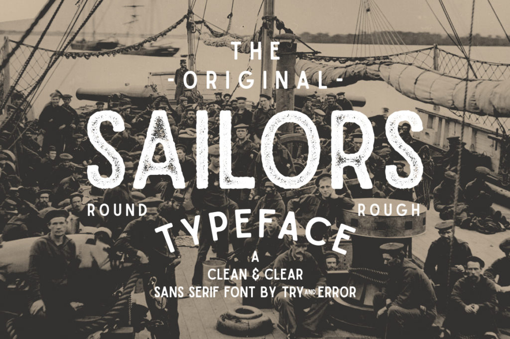 Sailors Typeface by Try&Error Studio.