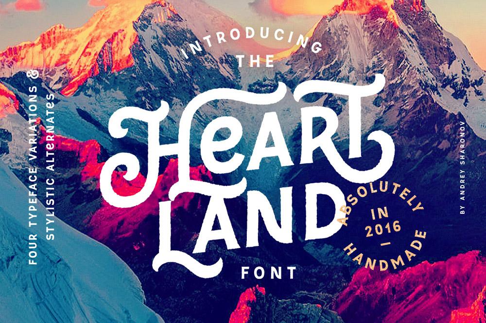 Heartland Font by Andrey Sharonov