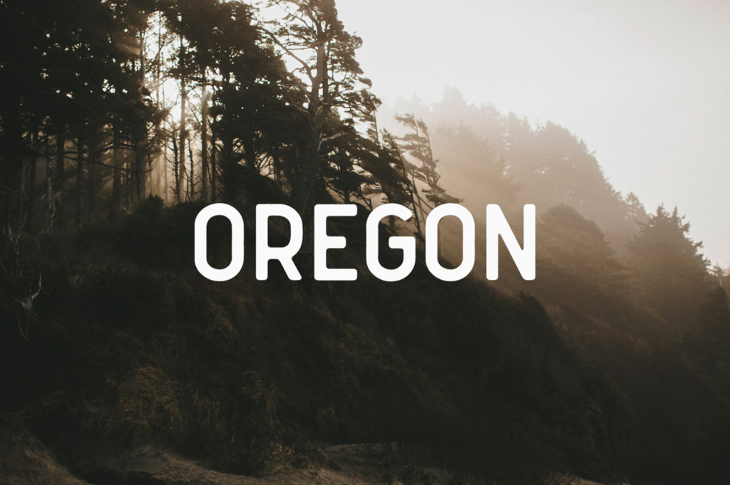 Oregon Font by Mark van Leuwen