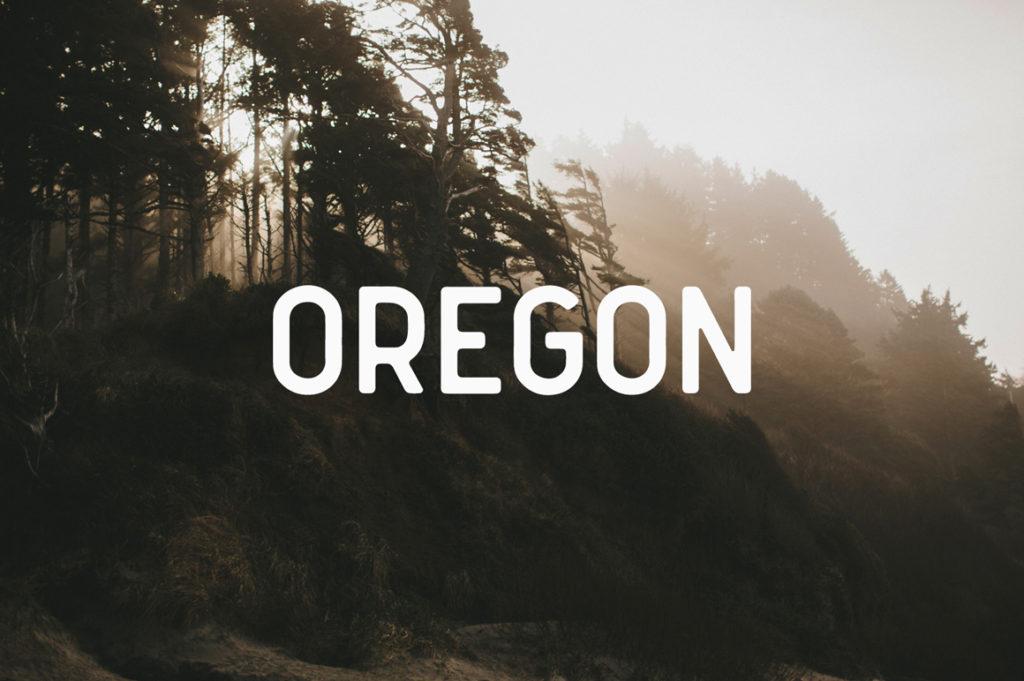 Oregon Font by Mark van Leuwen