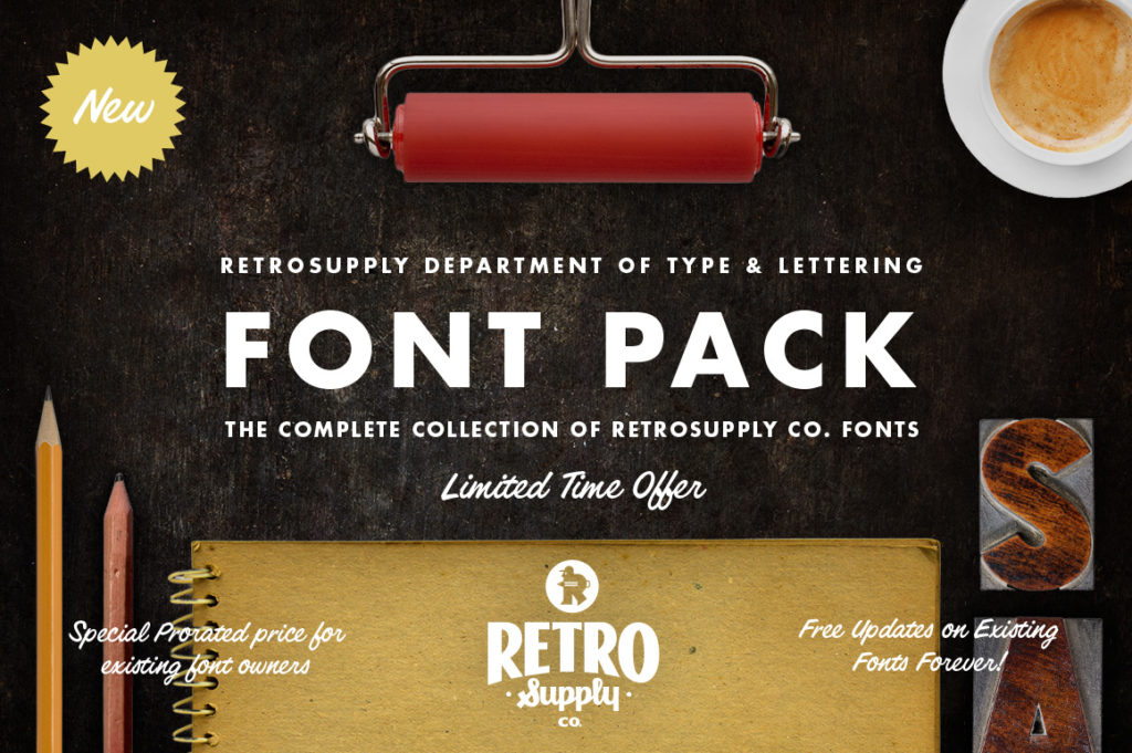 The RetroSupply Font Pack
