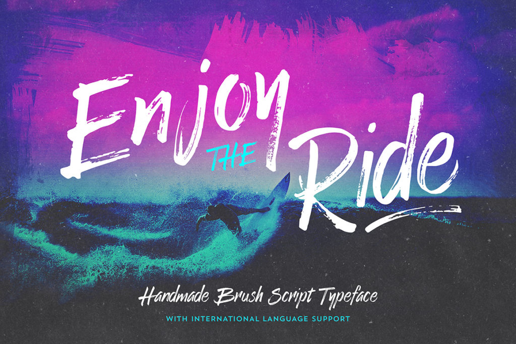 Enjoy the Ride Font Typeface