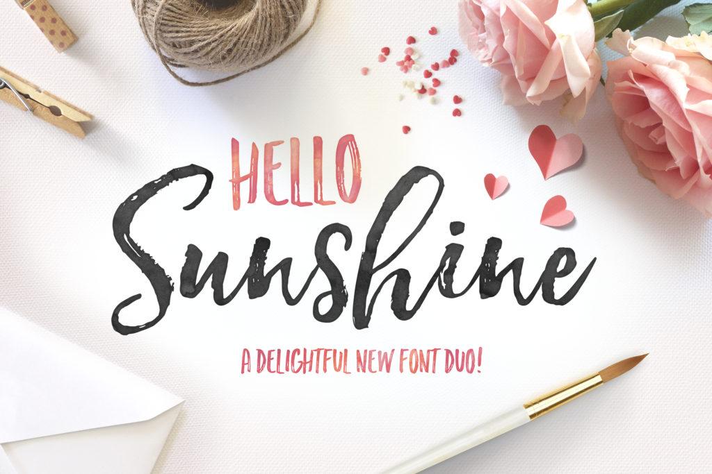 Hello Sunshine Font Duo from Nicky Laatz