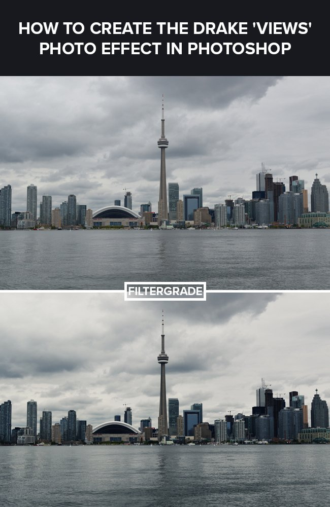 Learn how to create a moody blue photo effect in Photoshop similar to the one on Drake's Album Cover for 'VIEWS'.