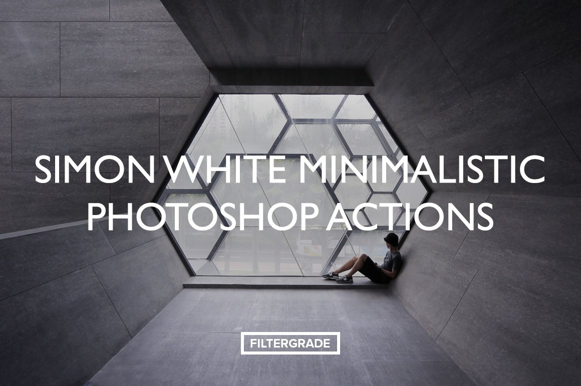 Beautiful, minimal Photoshop Actions by Simon White.