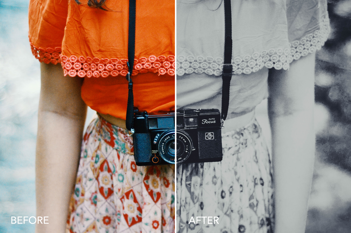 vintage black and white effects for photographers