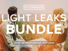 The FilterGrade Light Leaks Bundle for Photoshop