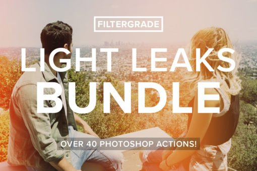 filtergrade light leaks bundle for photoshop