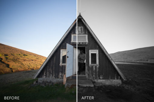 analog black and white film lightroom preset