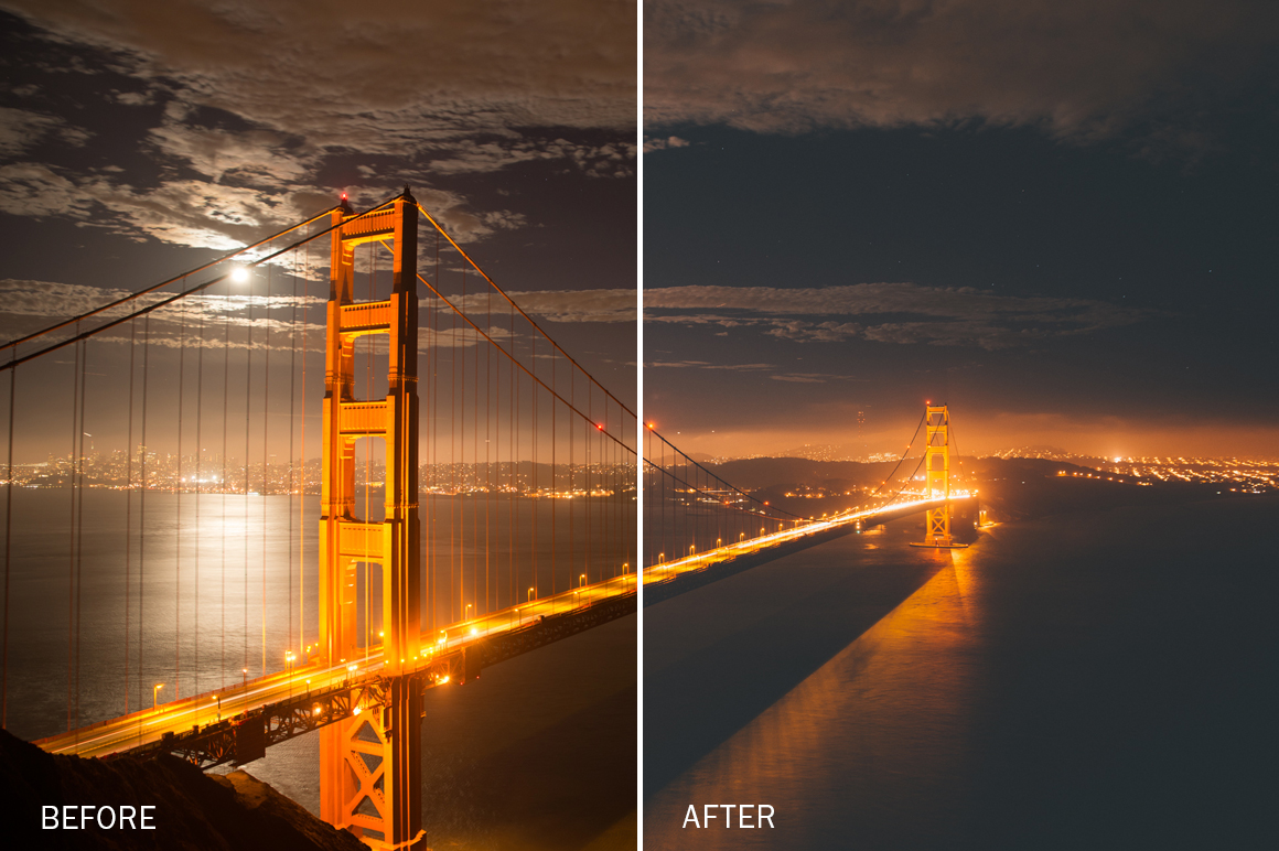 moody night photography lightroom presets by jake dockins