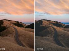 moody landscape lightroom presets by photographer jake dockins