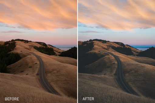 moody landscape lightroom presets by photographer jake dockins