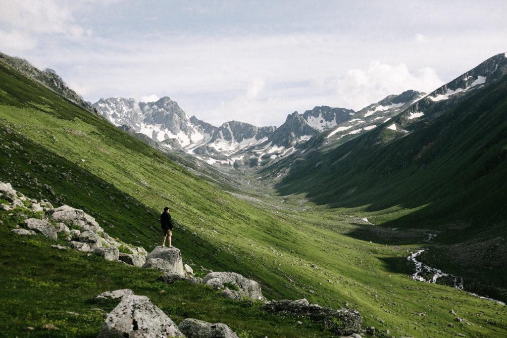 valley scenery by erman celik