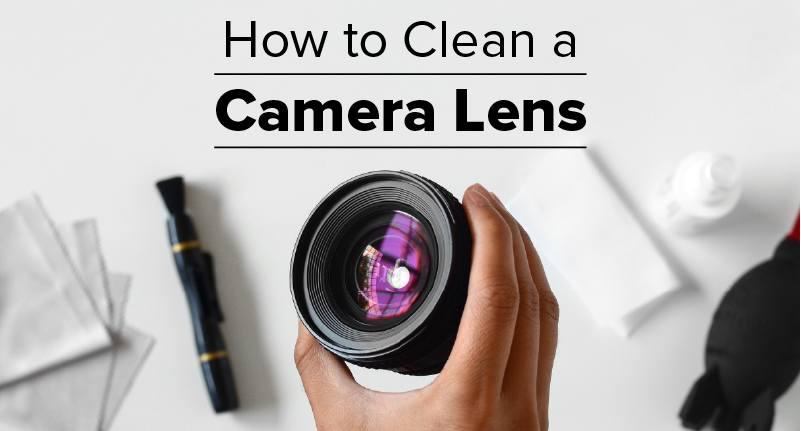 Learn how to clean a camera lens with this easy infographic.