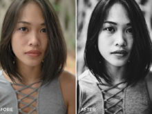 black and white portrait lightroom presets