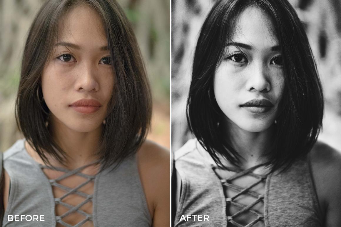 black and white portrait lightroom presets