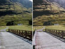 film landscape looks for lightroom by cooper explores