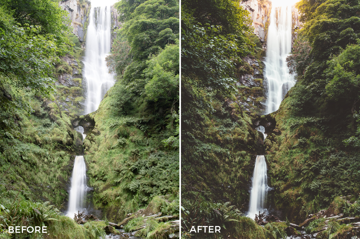 waterfall lightroom preset elliot cooper