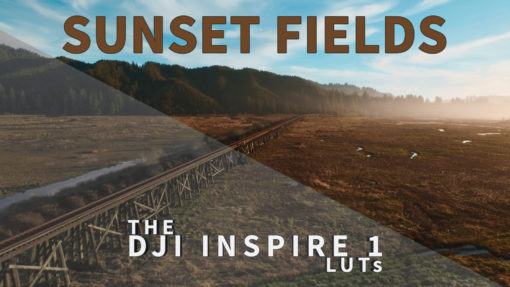 sunset fields video editing color grading