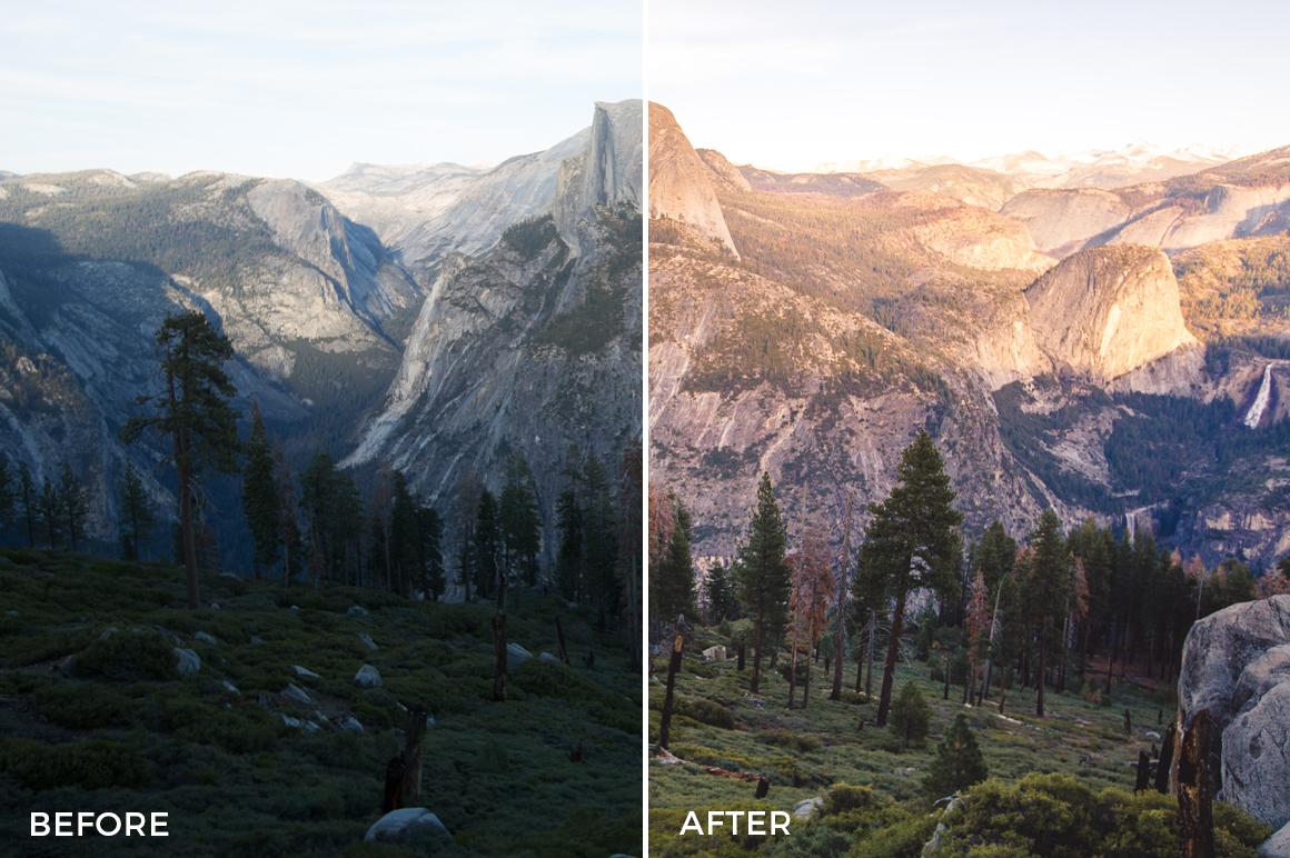 dreamy colors landscape lightroom presets