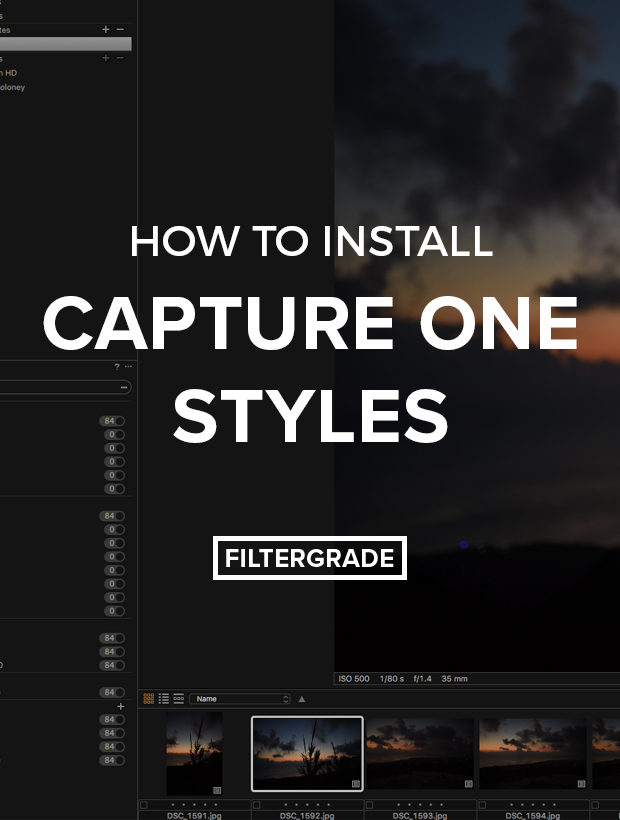 Learn how to install Capture One Styles in this step by step tutorial.