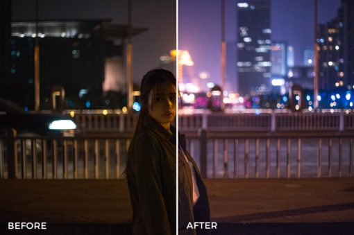 colorful night time lightroom presets by kefan weng