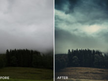 dark intense foggy lightroom presets