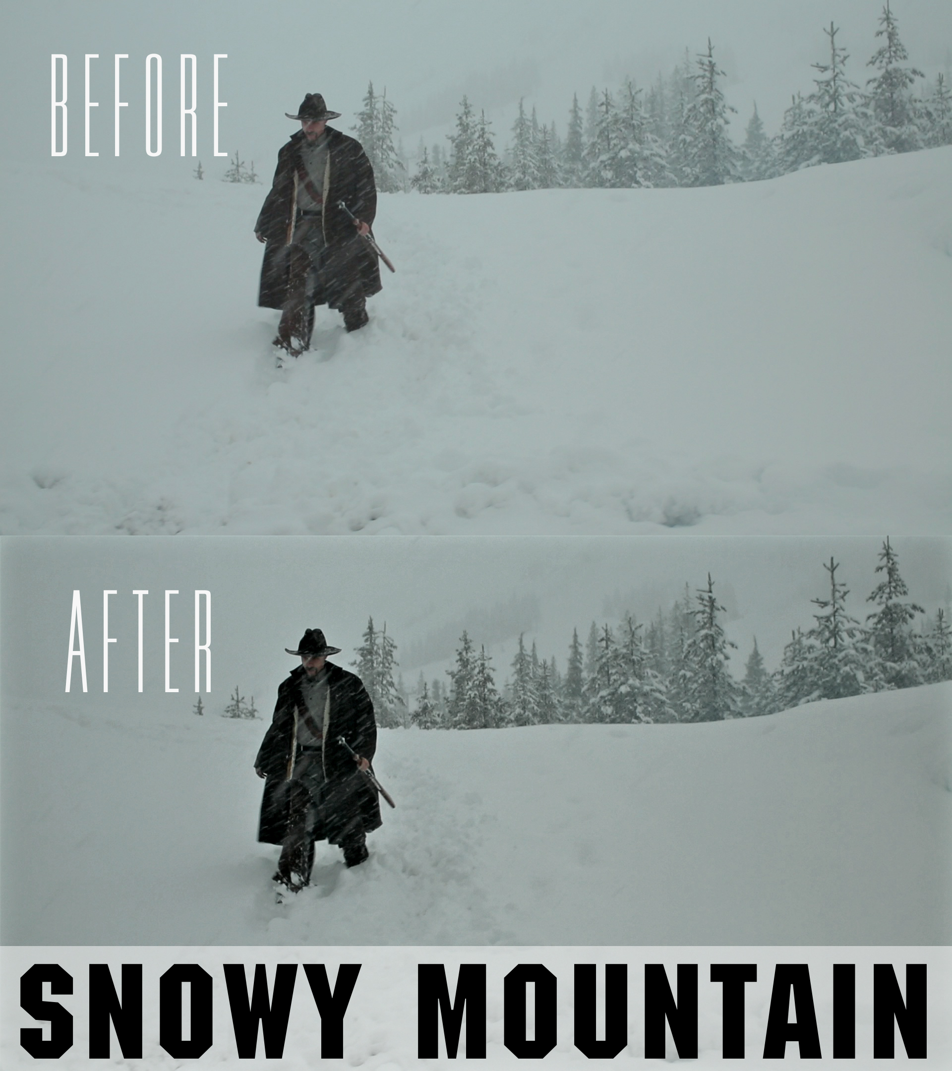 snowy mountain video color grading presets
