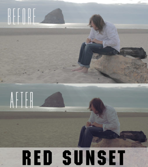 red sunset premiere pro presets