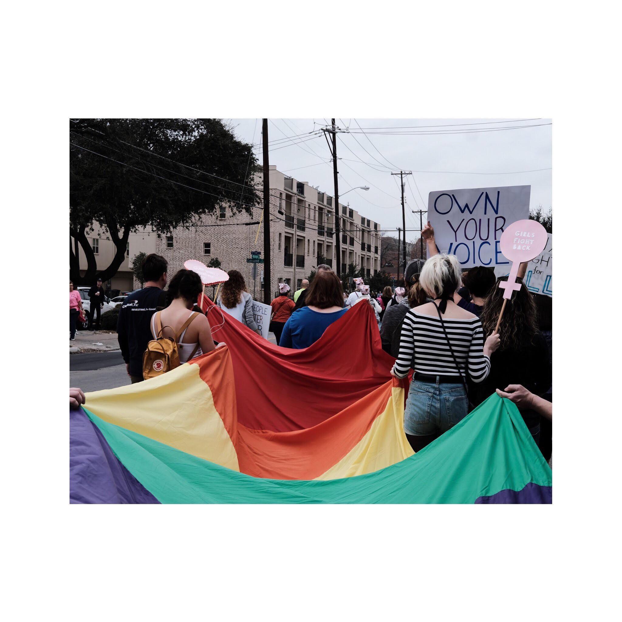 jake dockins dallas womens march