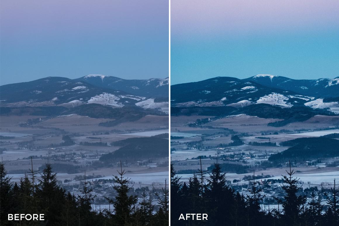 winter blue lightroom presets