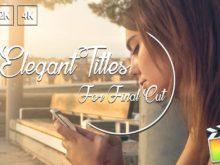Elegant Titles for Final Cut Pro