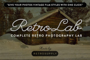RetroLab Vintage Film Photoshop Actions Bundle