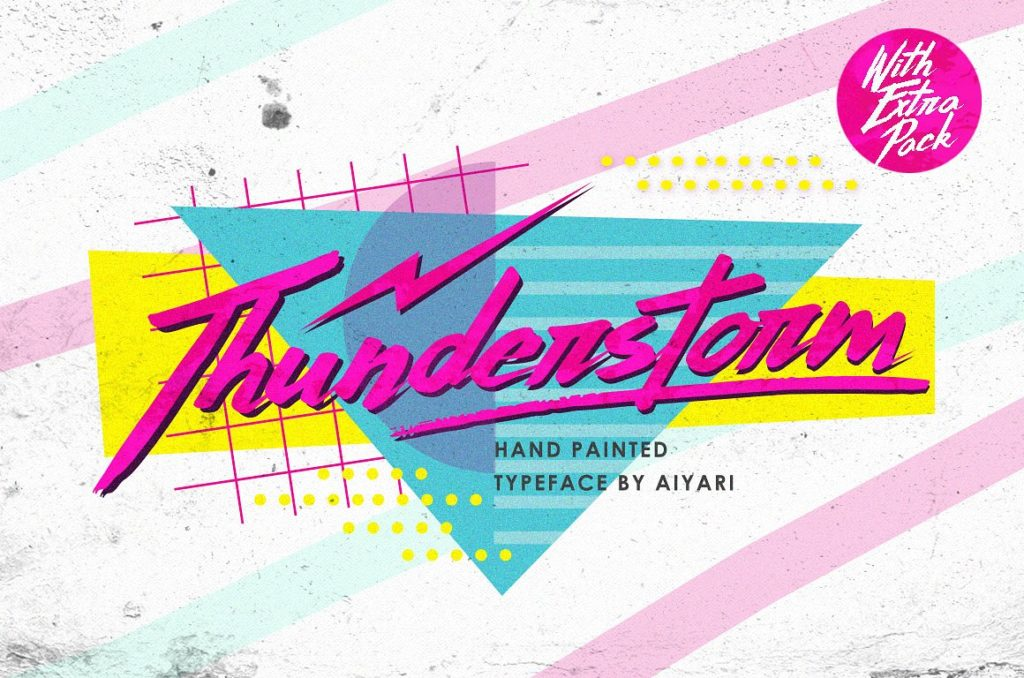 Thunderstorm Hand Painted Spring Font