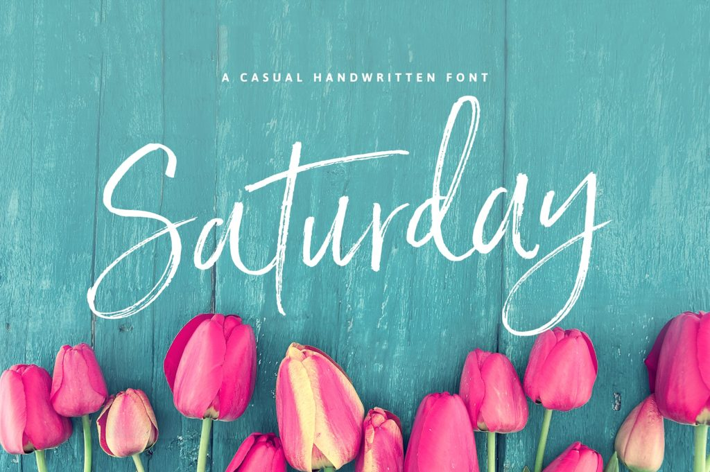 Saturday Script Font by Nicky Laatz