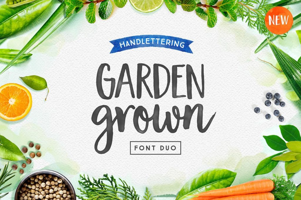 Garden Grown Spring Font Duo